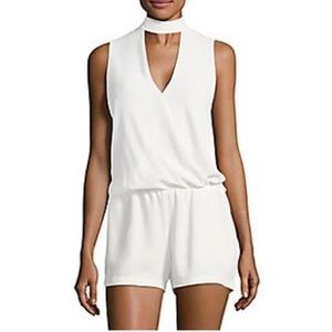 Saks Fifth Avenue White Sleeveless Romper - NWOT